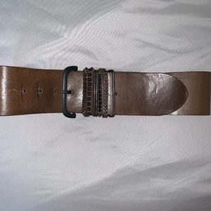 Diesel leather studded thick waist belt 80 S